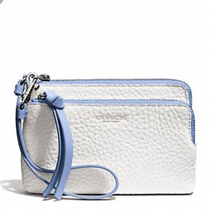 Coach Bleecker Edgepaint Double L-Zip Wristlet